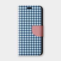 清新小格紋(藍)手機翻蓋保護皮套 超百搭小格紋,超過200種機型全面防護!
