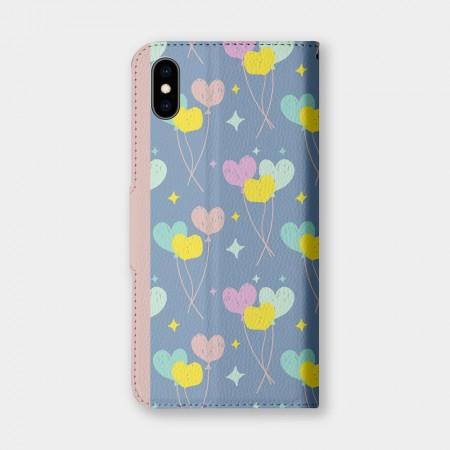 [PUPU] 愛心氣球(可客製化姓名) 手機翻蓋保護皮套