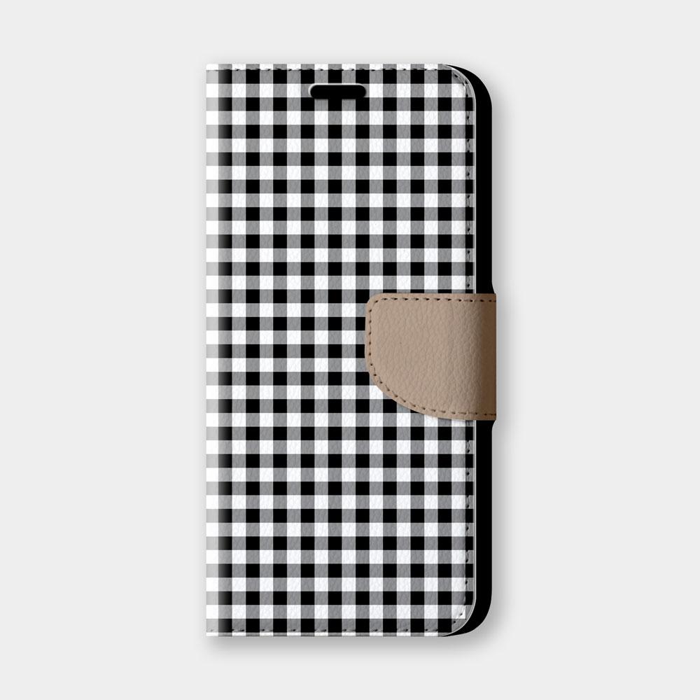 清新小格紋(黑)手機翻蓋保護皮套 超百搭小格紋,超過200種機型全面防護!