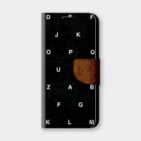 英文字母(黑)手機翻蓋保護皮套