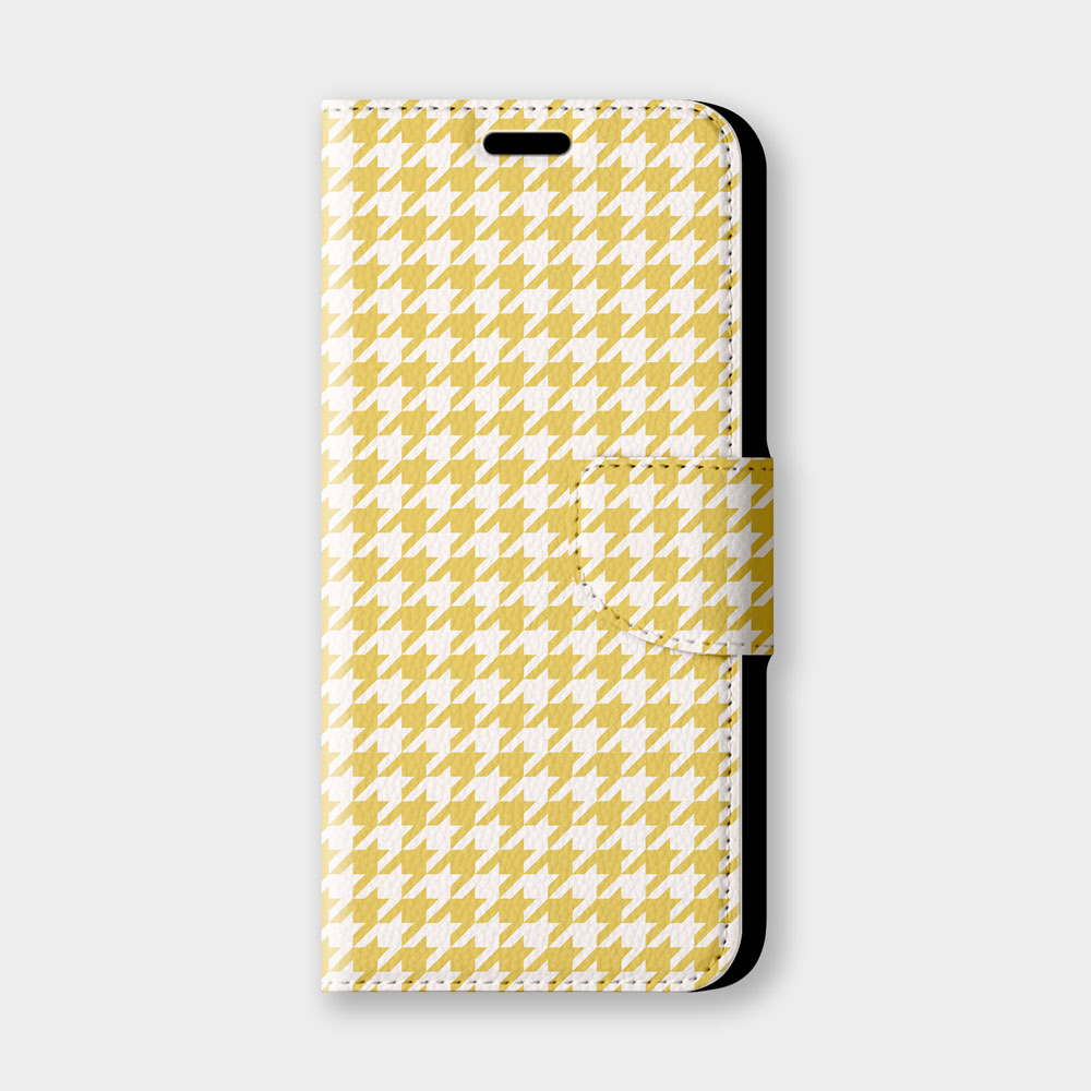 千鳥格(黃)手機翻蓋保護皮套 經典時尚推薦,超過200種機型全面防護!