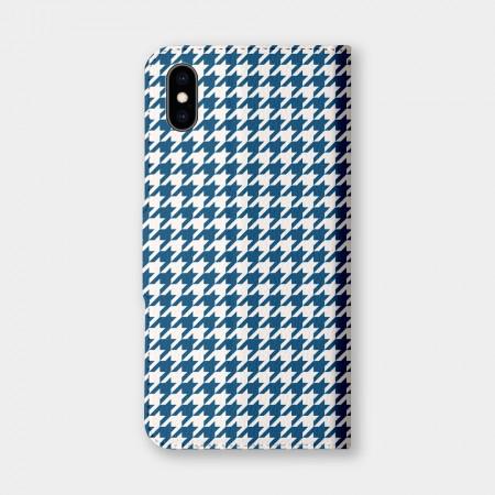 千鳥格(藍)手機翻蓋保護皮套