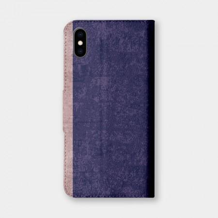 復古風(紫羅蘭)手機翻蓋保護皮套