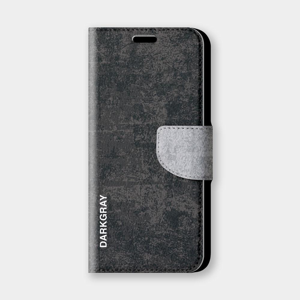 復古風(深灰)手機翻蓋保護皮套