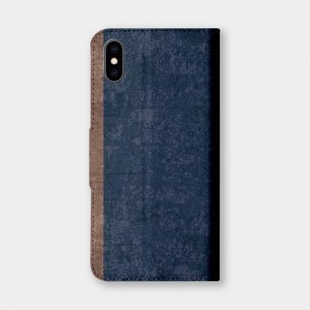 [PUPU] 復古風(深藍)手機翻蓋保護皮套