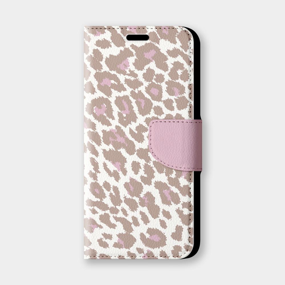 粉色豹紋手機翻蓋保護皮套 可愛動物紋路,超過200種機型全面防護!
