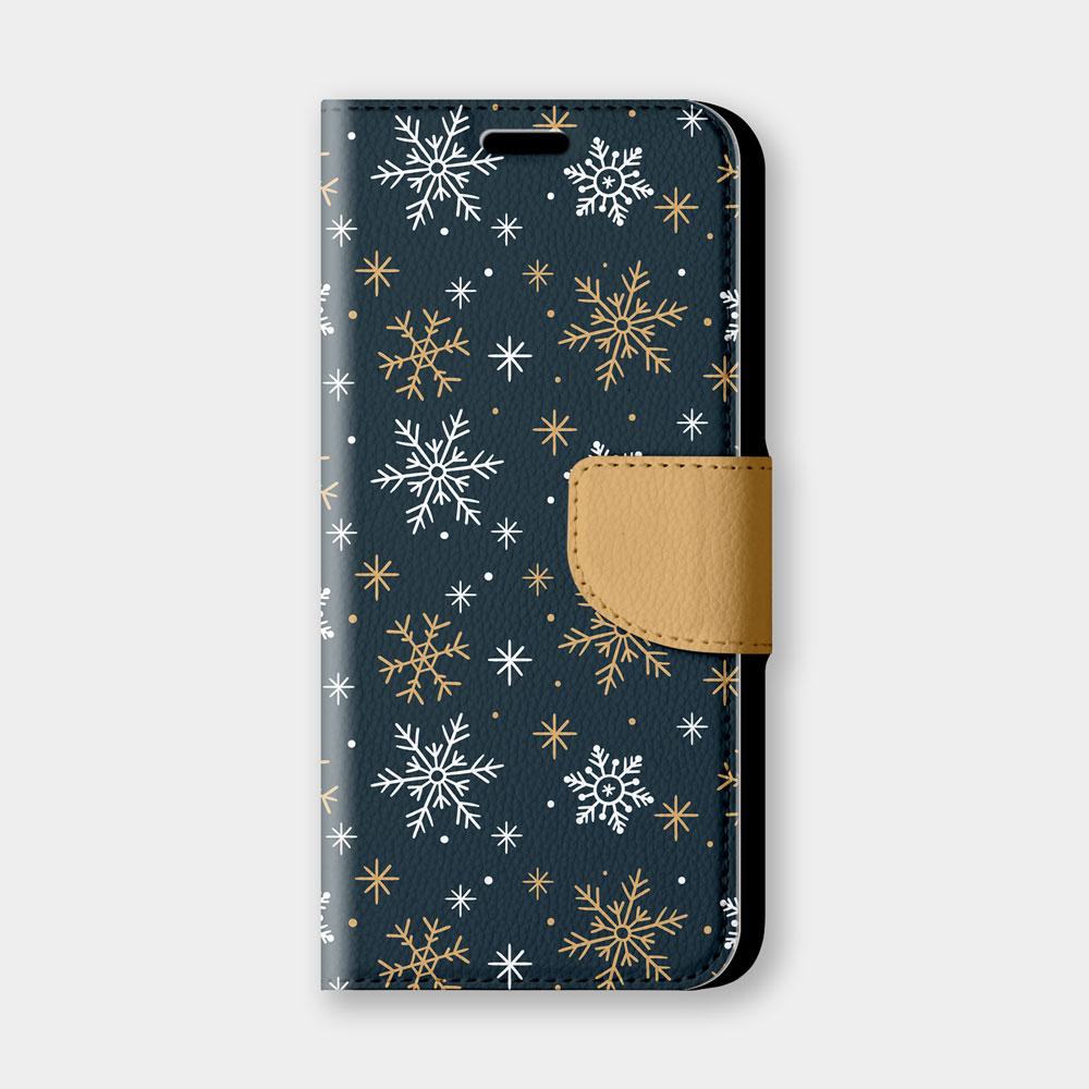 雪花手機翻蓋保護皮套