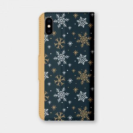 [PUPU] 雪花手機翻蓋保護皮套