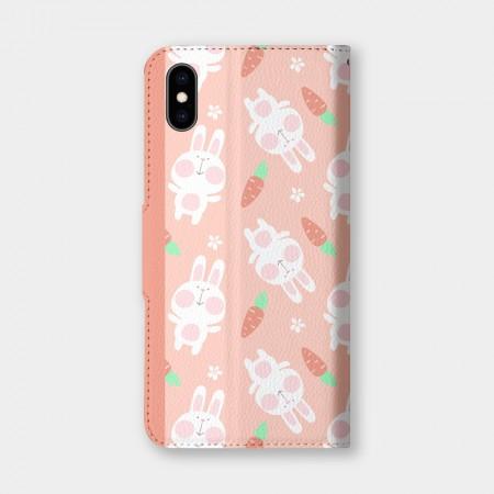 [PUPU] 兔子紅蘿蔔手機翻蓋保護皮套