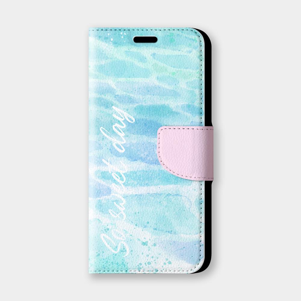 水波紋sweet day手機翻蓋保護皮套 清新療癒感!超過200種機型全面防護~