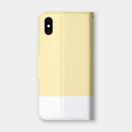 [PUPU] 色票(淡黃)手機翻蓋保護皮套