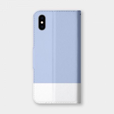 色票(藍)手機翻蓋保護皮套