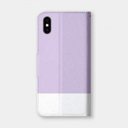 色票(紫)手機翻蓋保護皮套
