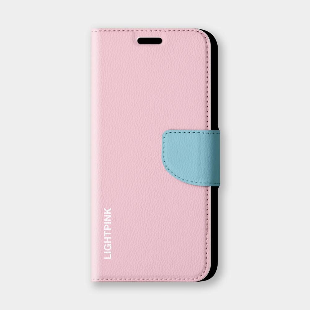 撞色(lightpink)手機翻蓋保護皮套 俏皮時尚!超過200種機型全面防護~