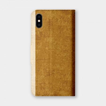 [PUPU] 復古風(山吹茶)手機翻蓋保護皮套