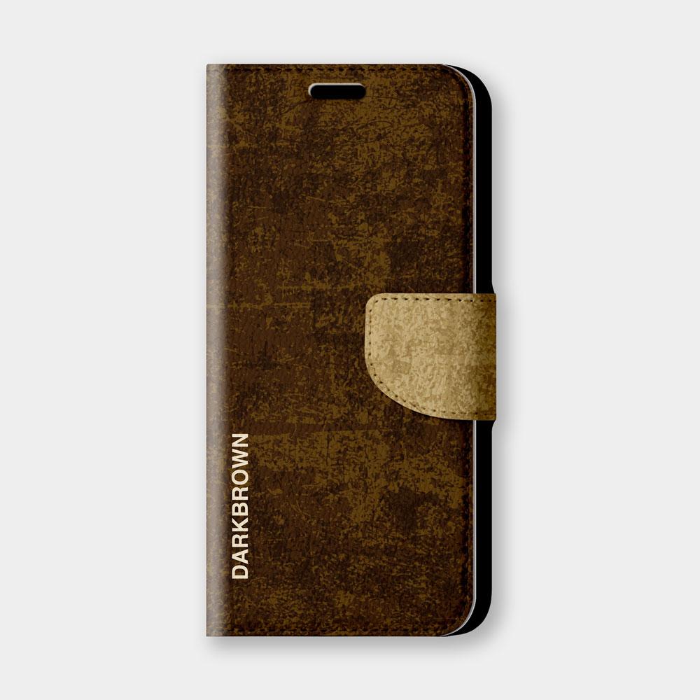 復古風(深棕)手機翻蓋保護皮套