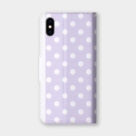 圓點(紫)手機翻蓋保護皮套