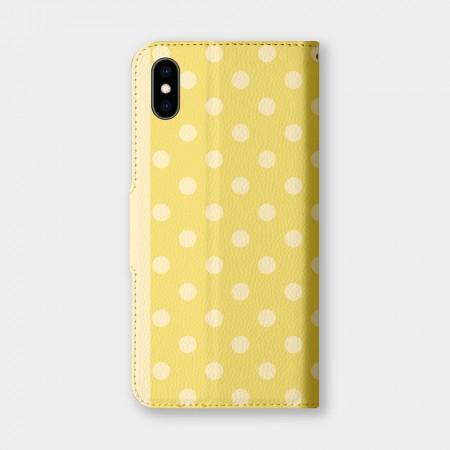 圓點(黃)手機翻蓋保護皮套