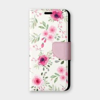 淡粉玫瑰手機翻蓋保護皮套