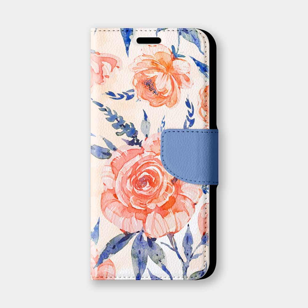 橘玫瑰手機翻蓋保護皮套 浪漫又時尚,超過200種機型全面防護!