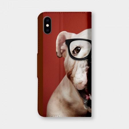 鬥牛犬手機翻蓋保護皮套