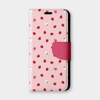 散落草莓手機翻蓋保護皮套 草莓季來襲,快換上可愛草莓點綴的手機配件!