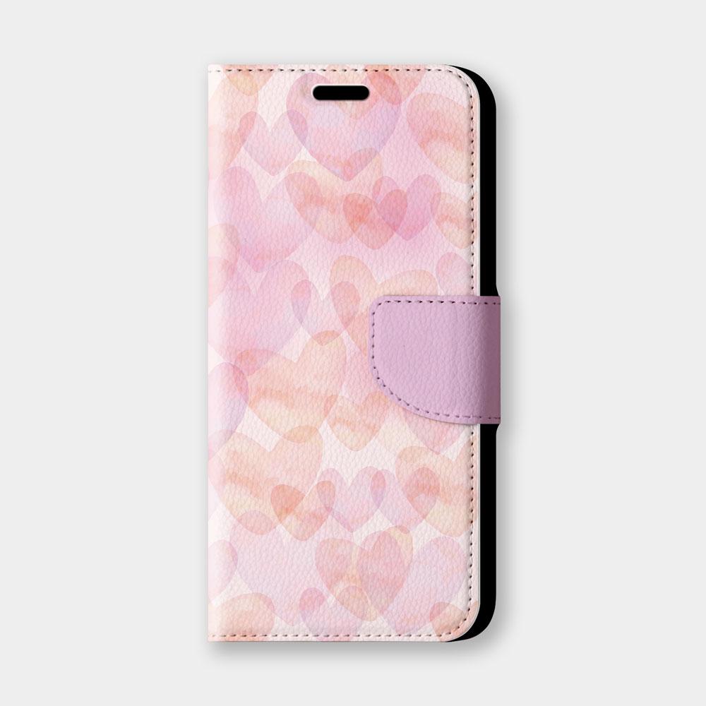 淡彩愛心手機翻蓋保護皮套