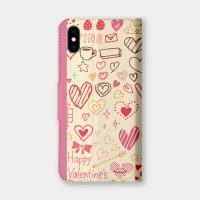 塗鴉愛心手機翻蓋保護皮套 情人節推薦,超過200種機型全面防護!