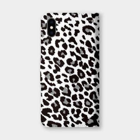 [PUPU] 黑色豹紋手機翻蓋保護皮套