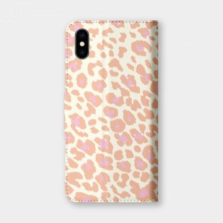 甜美豹紋手機翻蓋保護皮套