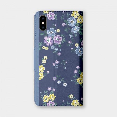 [PUPU] 藍紫小花 手機翻蓋保護皮套