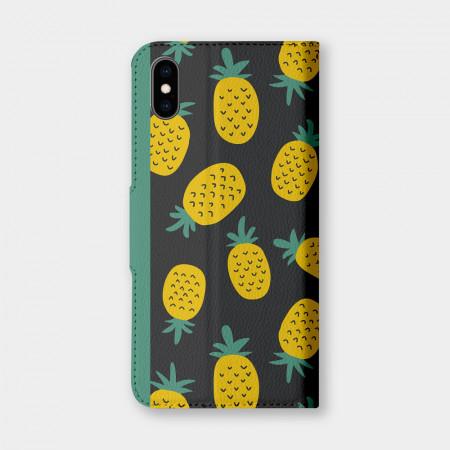 [PUPU] 鳳梨 手機翻蓋保護皮套
