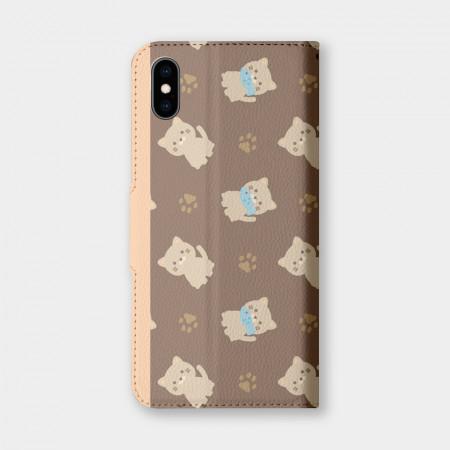 [PUPU] 貓貓吃魚 手機翻蓋保護皮套