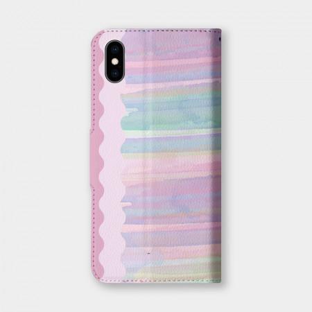 [PUPU] 客製化文字彩虹手機翻蓋保護皮套