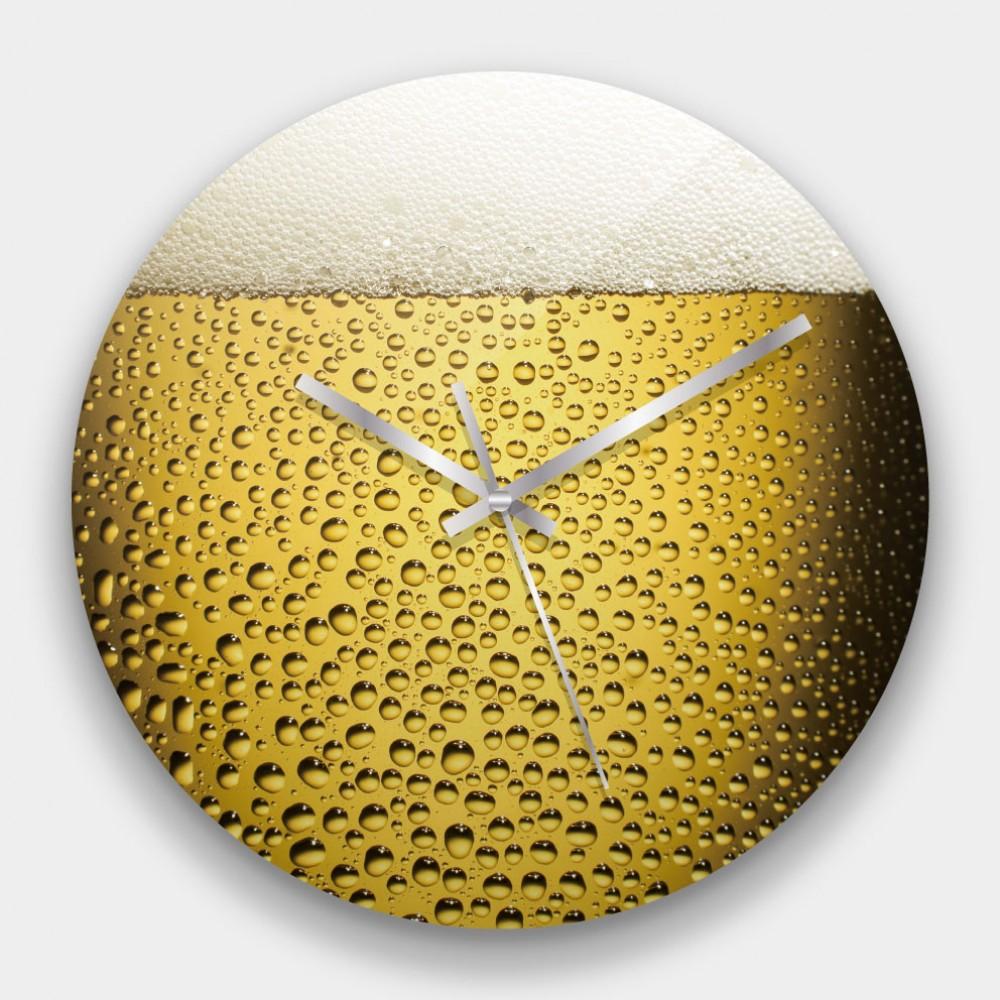創意掛鐘:啤酒 鏡面壓克力創意掛鐘