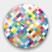 創意掛鐘:Pixel 鏡面壓克力創意掛鐘