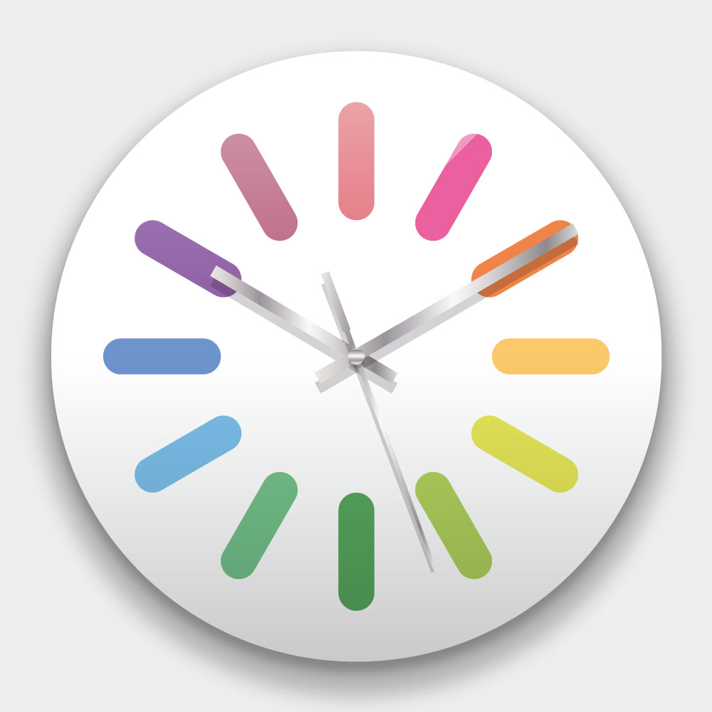 創意掛鐘:鋼圈 鏡面壓克力創意掛鐘
