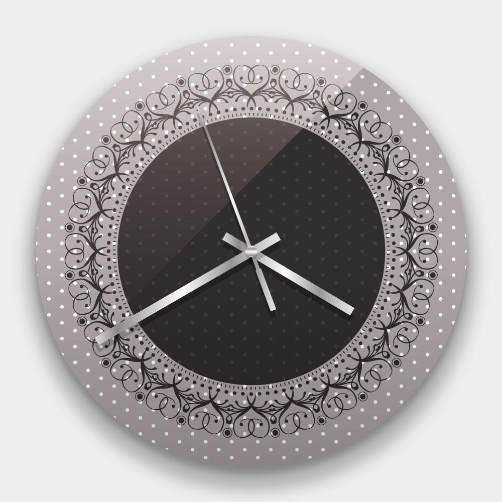 創意掛鐘:蕾絲