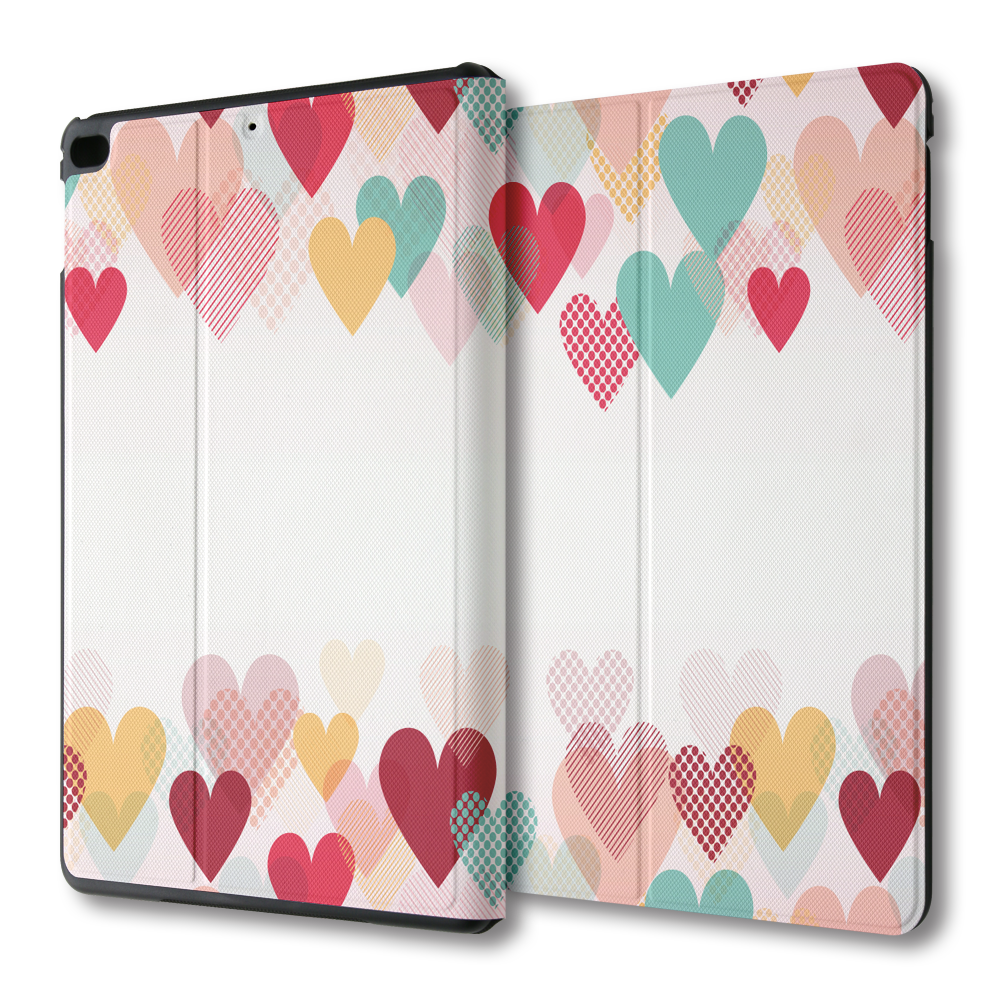 iPad mini / Air 多角度翻蓋皮套:彩色愛心