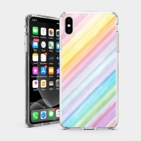 斜紋彩虹 iPhone 耐衝擊防摔保護殼 可客製化文字!獨家贈送蝴蝶結緞帶