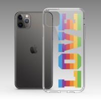 LOVE彩虹 iPhone 耐衝擊防摔保護殼 可客製化文字!獨家贈送蝴蝶結緞帶