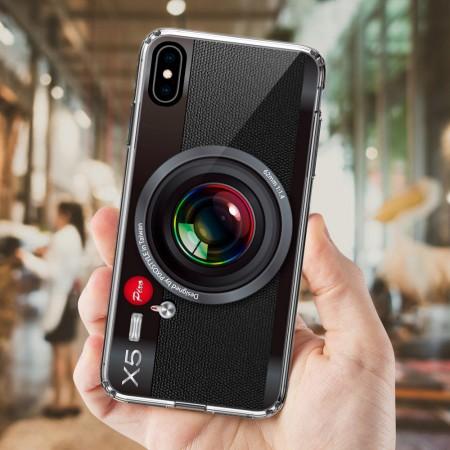 經典黑色相機 iPhone 耐衝擊防摔保護殼