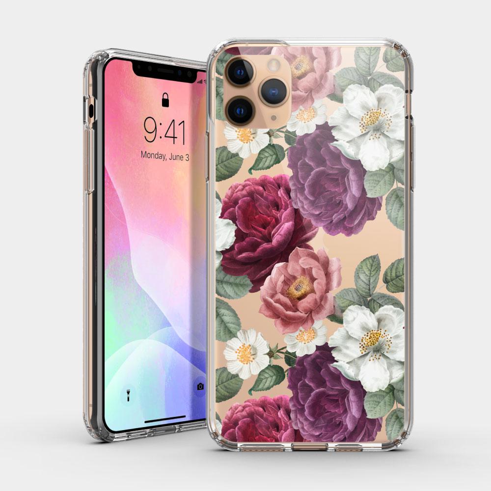 復古花卉 iPhone 耐衝擊保護殼