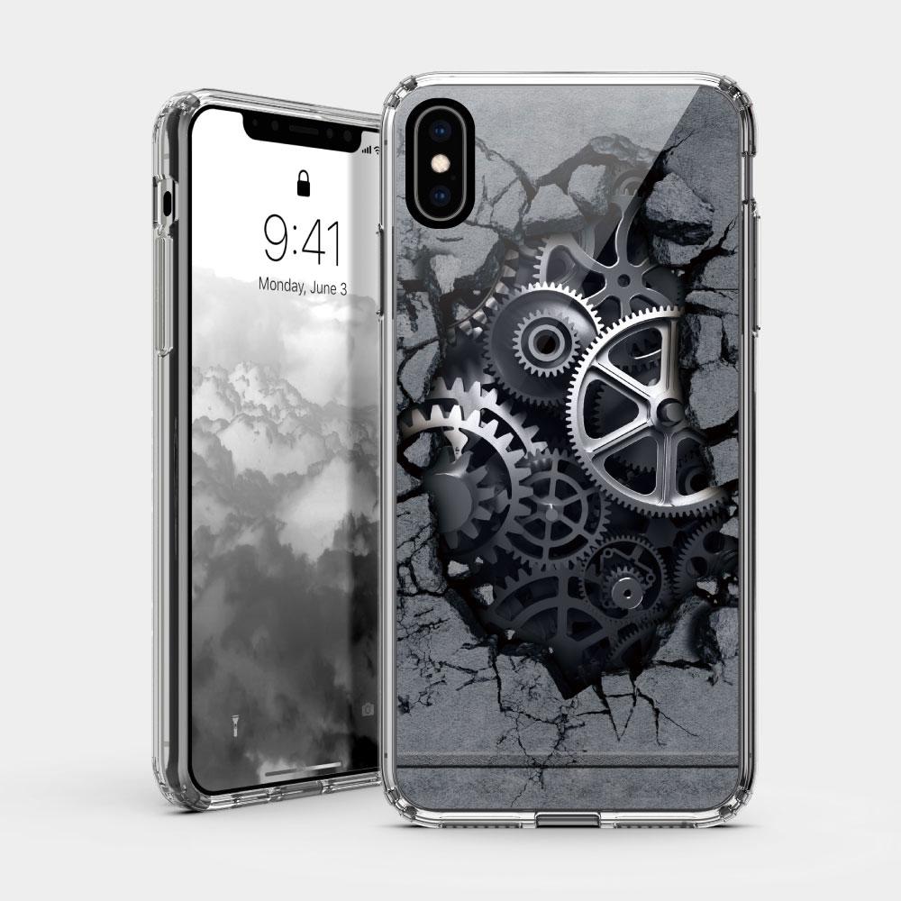 機械 iPhone 耐衝擊保護殼 贈送胸章或蝴蝶結緞帶