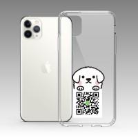 白色趴趴狗 iPhone 耐衝擊防摔保護殼 可客製化文字 贈送胸章或蝴蝶結緞帶
