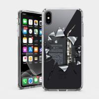 破裂 iPhone 耐衝擊防摔保護殼 贈送胸章或蝴蝶結緞帶