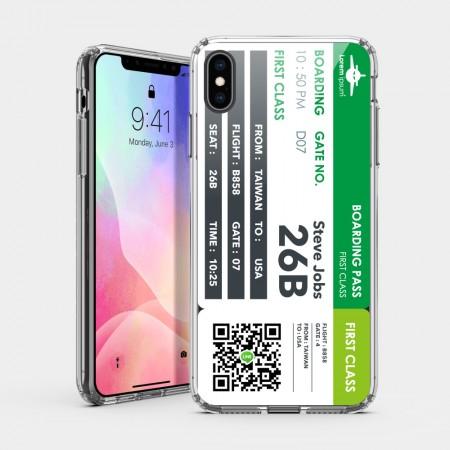 [CTRL+Z] 機票(綠) iPhone 耐衝擊保護殼