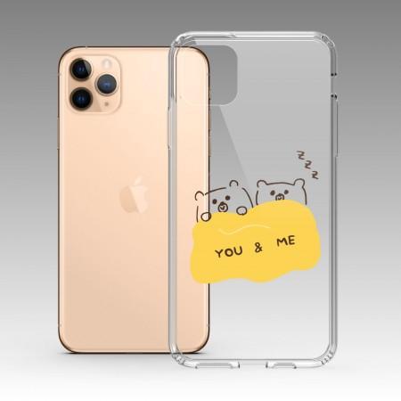 [PUPU] 客製化姓名 熊熊You & Me iPhone 耐衝擊保護殼