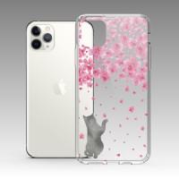 櫻花與貓 iPhone 耐衝擊防摔保護殼 粉嫩櫻花季!贈送手機氣囊支架