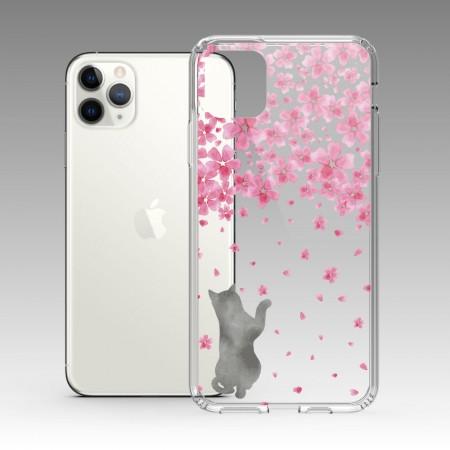 櫻花與貓 iPhone 耐衝擊防摔保護殼
